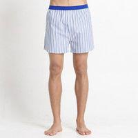 【Corpox】男式冰鎮棉持續涼感抗菌平口褲(桃藍綠條紋)