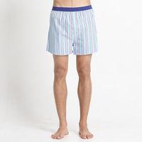 【Corpox】男式冰鎮棉持續涼感抗菌平口褲(湖藍條紋)