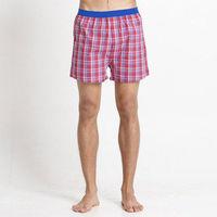【Corpox】男式冰鎮棉持續涼感抗菌平口褲(紅格紋)
