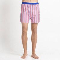 【Corpox】男式冰鎮棉持續涼感抗菌平口褲(條紋紅)