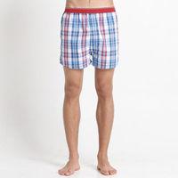 【Corpox】男式冰鎮棉持續涼感抗菌平口褲(紅藍條紋)