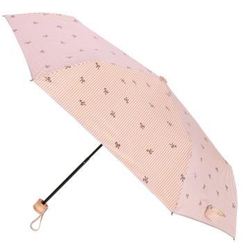 2mm銀膠抗UV 蝴蝶結條紋輕量手開傘-橘色