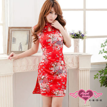 【天使霓裳】夜柔琴音 復古優雅款旗袍裝 角色服(紅)-YA5024