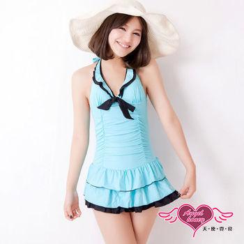 天使霓裳 時尚亮采 一件式連身泳衣(藍M~XL)-SQ88033