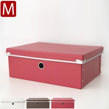 《舒適屋》日系附蓋硬式收納盒/置物箱/整理箱-M(3色可選)