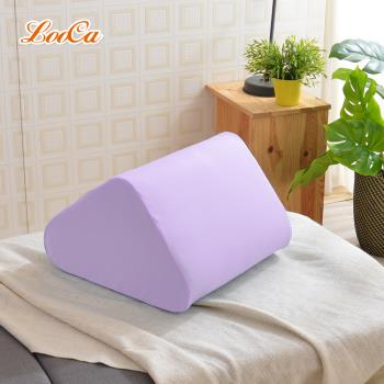 LooCa 吸濕排汗萬用三角靠墊-紫色