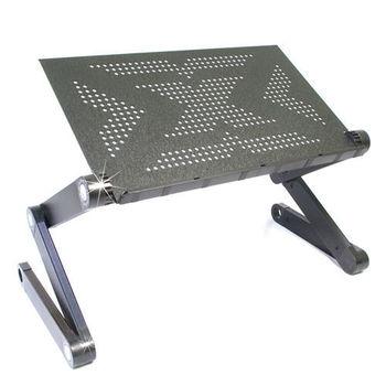 【wepon】百變鋁合金折疊桌/電腦桌/閱讀桌/筆電桌(黑金鋼)