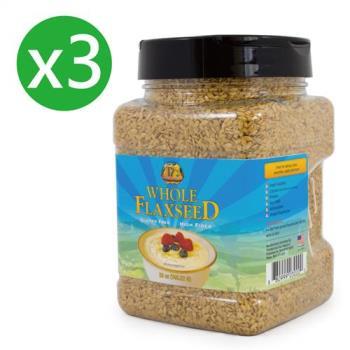 【Premium Gold】美國原裝進口 亞麻世家 黃金亞麻籽3罐優惠組(740g x 3)