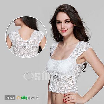 【Osun】蕾絲小可愛背心歐風夏季性感吊帶雙肩-(中) 二入 附胸墊#T8808/CE-176G