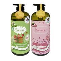 AiLeiYi天然修護洗髮精-城市裡的蘋果花園+天然潤膚沐浴精-漫步櫻花園1000ml