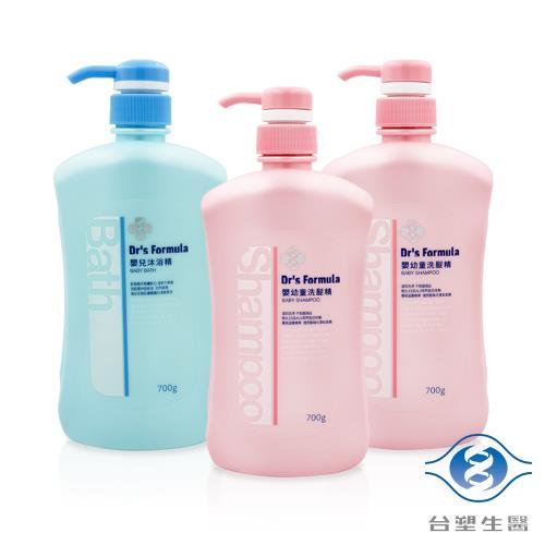 台塑生醫 嬰兒沐浴洗髮超值3件組(嬰兒沐浴精*1+嬰幼童洗髮精*2)