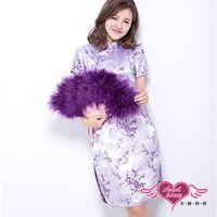 天使霓裳 古典美人 性感旗袍裝 角色扮演服(淺紫F)-L101019