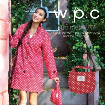 【w.p.c.】甜美水玉款。時尚雨衣/風衣(R1012) 亮紅