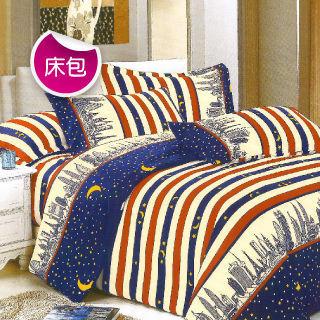 【R.Q.POLO】城市夜空 絲棉柔-雙人標準三件式床包組(5尺)
