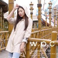 w.p.c.袖子可折2 way時尚雨衣/風衣(R9001)-卡其