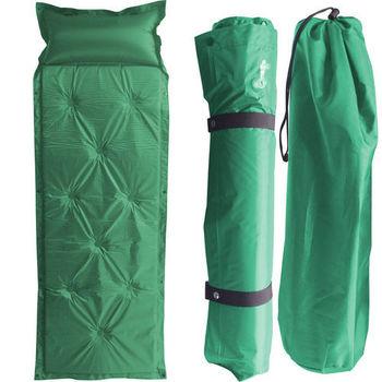 自動充氣睡墊/充氣墊帶枕頭超值2入