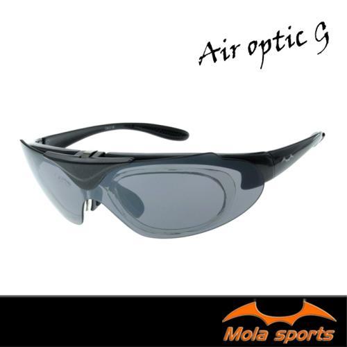 Mola Sports 摩拉上掀式運動太陽眼鏡 近視/老花眼鏡族可戴 小到一般臉型  騎車 高爾夫 跑步 Air_optic-W