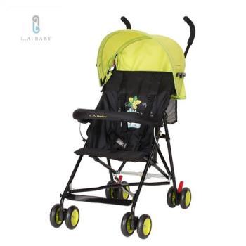 L.A. Baby 美國加州貝比-亮彩輕便嬰兒手推車(亮彩綠)