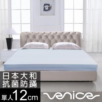 《贈小收納箱》Venice 日本防蹣抗菌12cm記憶床墊-單人3尺