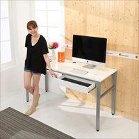 《BuyJM》低甲醛鏡面160公分穩重型單抽屜工作桌