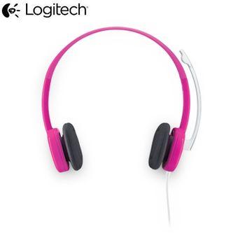 羅技 立體聲 耳麥克H150金屬粉紅