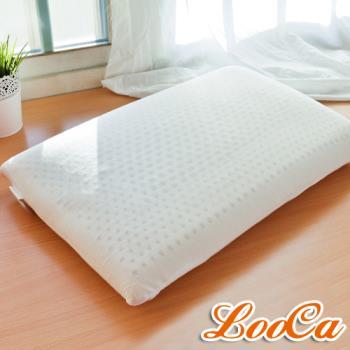 LooCa 加強護頸基本型乳膠枕-1入 送防蹣防蚊枕套