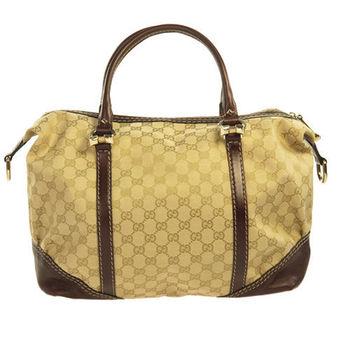 GUCCI 時尚經典緹花大型波士頓包