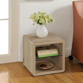 【咱的厝】DIY極簡造型小茶几桌/邊桌/置物櫃(淺橡色)