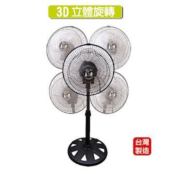 【安妮兔】台灣製造12吋3D立體循環電風扇 DL-0020