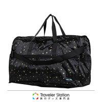 《Traveler Station》HAPI+TAS 摺疊圓形旅行袋(大)新款-169星空黑