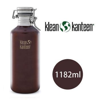 【美國Klean Kanteen】不銹鋼瓶(快扣鋼蓋)1182ml_深琥珀