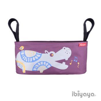 【IBIYAYA依比呀呀】嬰兒/寵物推車專用-多用途置物吊袋-河馬
