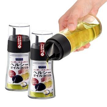 日本ASVEL油控式140ml調味油玻璃壺2入特惠組