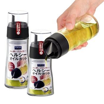 日本ASVEL油控式調味油玻璃壺(140ml+200ml)2入特惠組