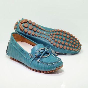 諾曼地鱷魚紋牛皮豆豆增高鞋