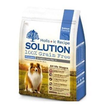 【SOLUTION】耐吉斯 成幼犬無穀 大西洋鮭魚 低敏柔膚 16磅 X 1包