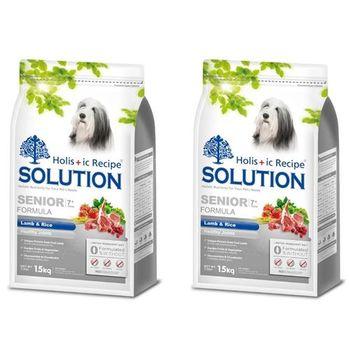 【SOLUTION】耐吉斯 高齡犬 關節保健配方 羊肉+田園蔬菜 3公斤 X 2包