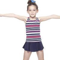 【SAIN SOU】女童兩件式泳裝附泳帽加贈KEROPPA造型短襪x1雙A82432