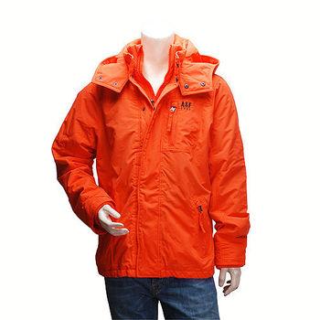 Abercrombie  Fitch 防風內刷毛連帽風衣外套(男-橘-M)