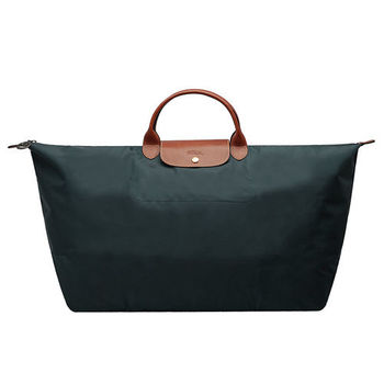 LONGCHAMP 摺疊超大型旅行包/購物袋(槍銅色)