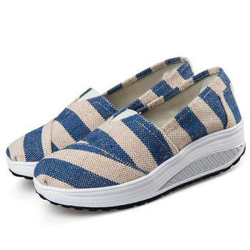 【Alice 】(現貨+預購)時尚風格部落客穿帶條紋健走鞋