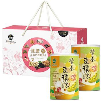 薌園 經典營養豆漿禮盒組(營養豆漿x2罐/瓷杯x1)