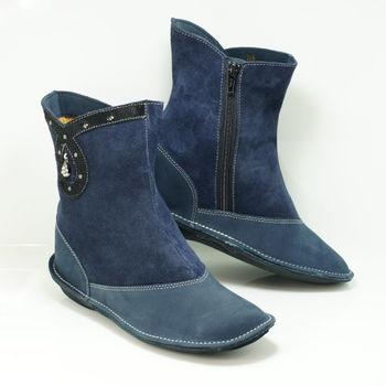 【舞Mai】MIT精靈牛皮增高短靴(二色挑選)