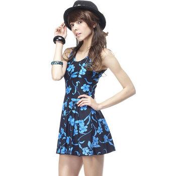 【SARBIS】MIT大女連身裙泳裝附泳帽加贈KEROPPA短襪x1雙B98233