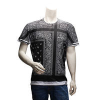 DOLCE  GABBANA DG Paisley印花短袖T恤(藍色-48號)