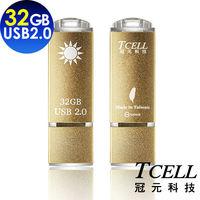 TCELL 冠元-USB2.0 32GB 國旗碟 (香檳金限定版)
