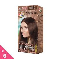 【柔蝶】自然色彩染髮霜-咖啡棕-6入組
