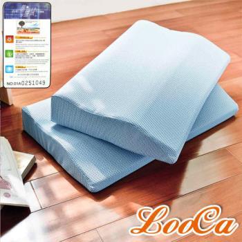 LooCa 黑絲絨護肩寶背記憶枕-2入 送防蹣防蚊枕套