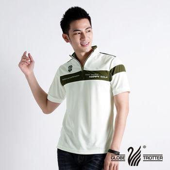 【遊遍天下】MIT台灣製男款立領吸濕排汗抗UV機能POLO衫S111(綠)