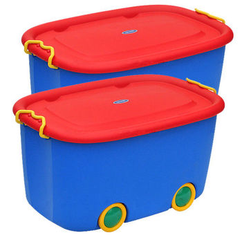 【U-SONA】大寶玩具滑輪整理箱(45公升) 2入